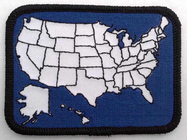 Travel Patch USA on midwestern usa map, auto usa map, american flag usa map, license plate usa map, hitchhiking usa map, palm tree usa map, ski usa map,