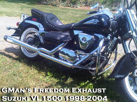 EXHVL1500_334X334 gman freedom motorcycle performance exhaust for suzuki vl1500, lc  at bayanpartner.co